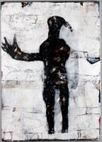Homme oiseau - 140 x 100 cm - acrylique sur toile