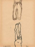 27 x 16 cm Bleistift und Tusche auf Papier