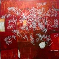 La Marelle (Himmel und Hölle) - 100x100cm - Mischtechnik