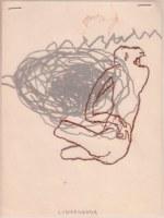 22 x 16 cm Monotype sur calque – Femme nid