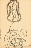 27 x 17cm crayon et encre de chine sur papier
