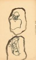 27 x 18cm crayon et encre de chine sur papier
