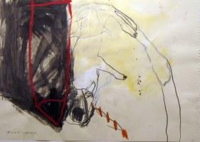 Dessin commun avec Klaus Prior - 40x60 cm – technique mixte